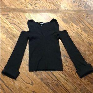 Express long sleeve cut out shirt